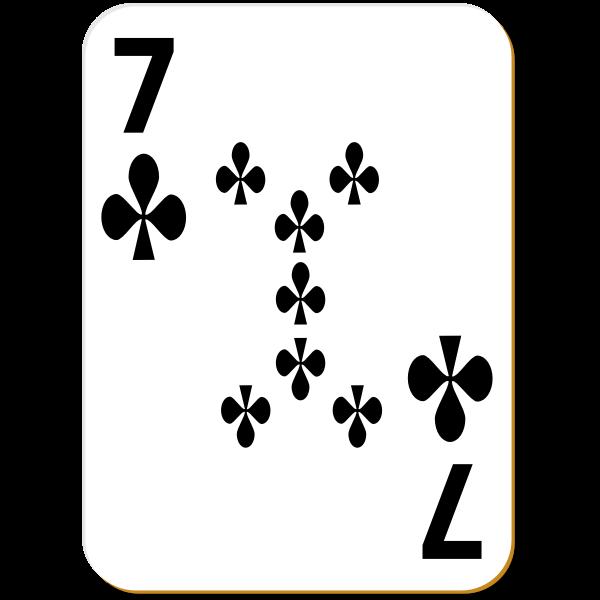Seven of clubs vector clip art