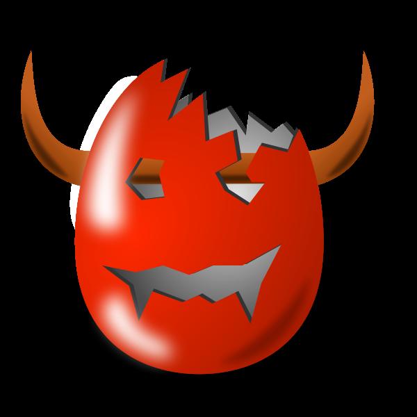 Devil Easter egg shell vector image