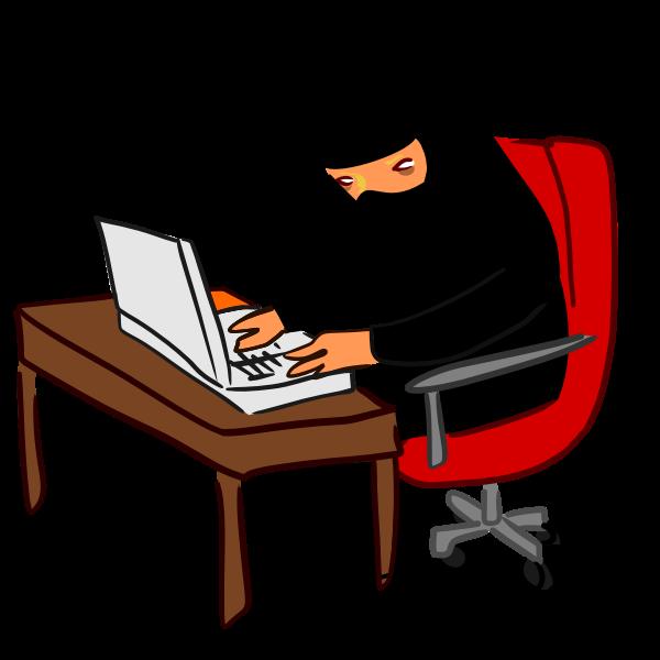 Ninja hacking computer