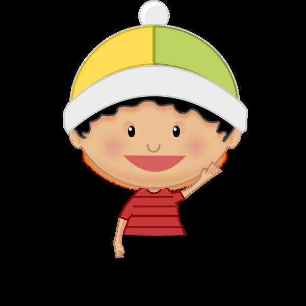 Little kid waving