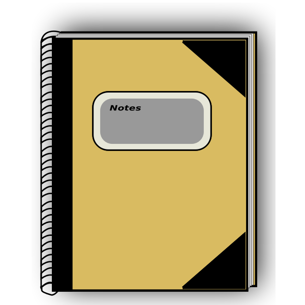 Vector drawing of notebook
