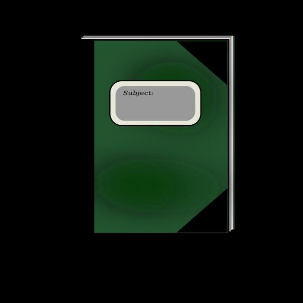 Vector graphics of notebook