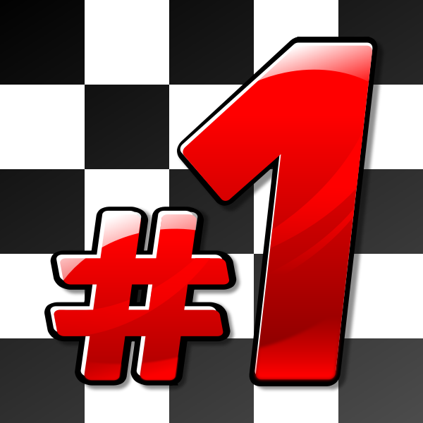 Number one on racing flag vector image