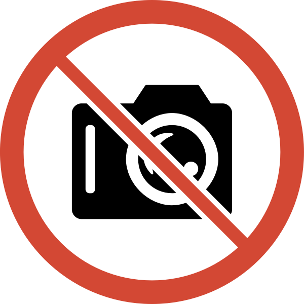 Photo taking banned sign vector illustration