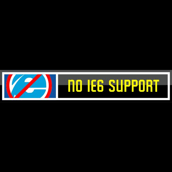 No Internet Explorer 6 Support Vector Button Free Svg