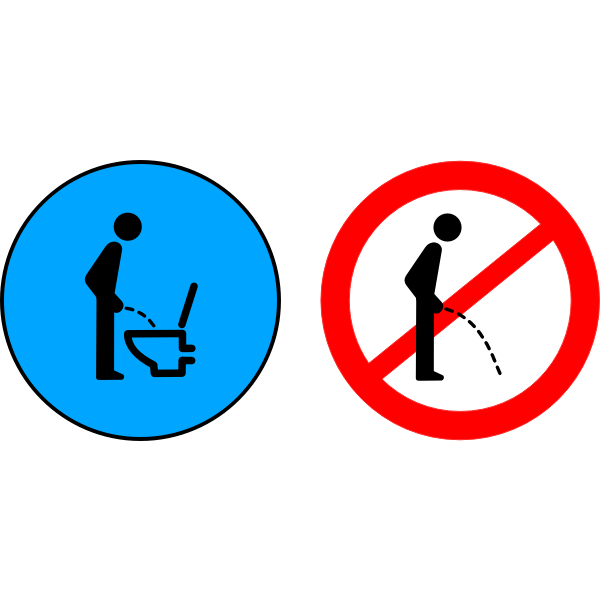 No peeing on the floor sign vector clip art