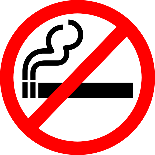 Vector image of smoking forbidden sign label