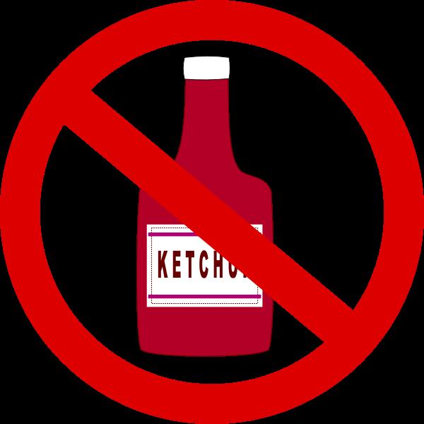 No ketchup vector clip art