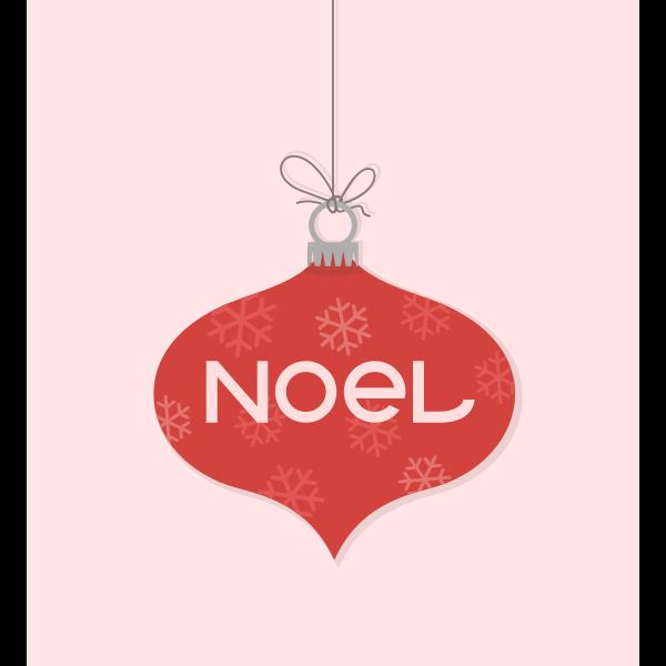 Noel Christmas ornament vector clip art
