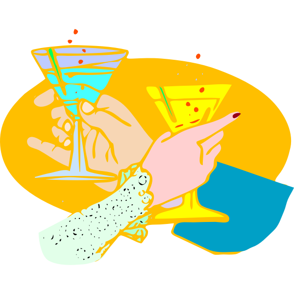 Vector illustration of drink toast