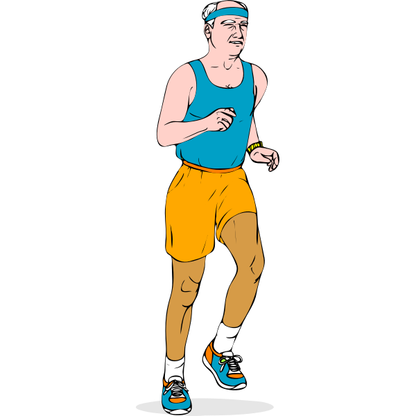 Vector illustration of an older athlete