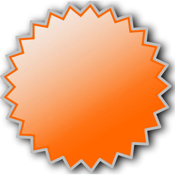 Starburst badge vector image