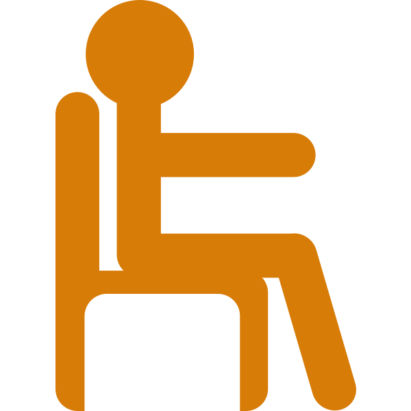 Man in Chair Vector Art