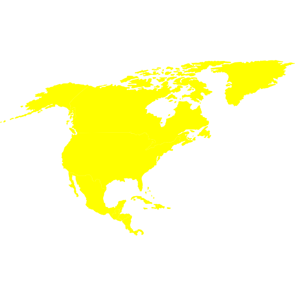 Vector map of North-American continent
