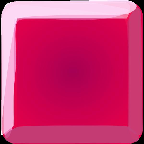 Magenta button vector clip art