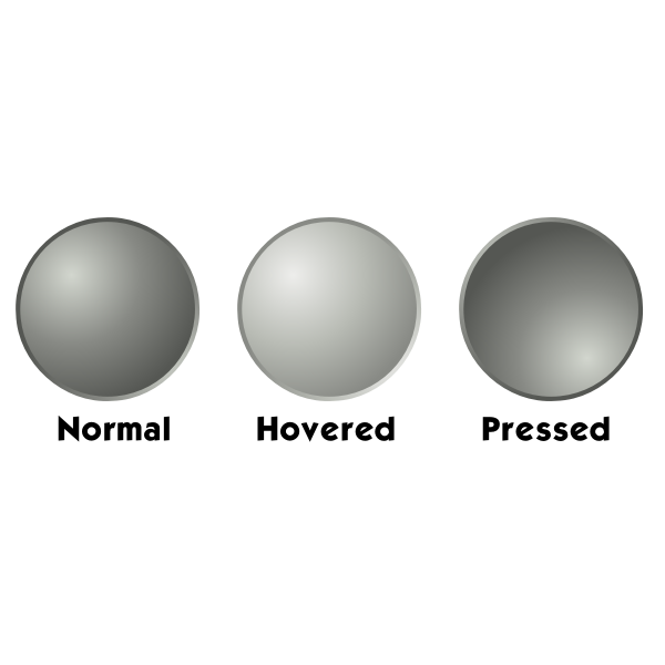 Grey web button template vector drawing