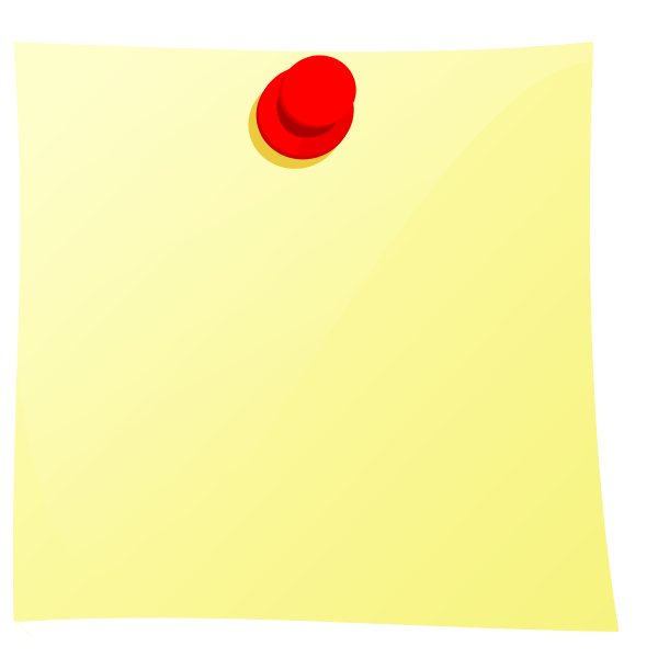 Pinned yellow note