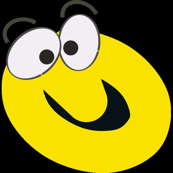 Yellow cartoon smiley vector clip art