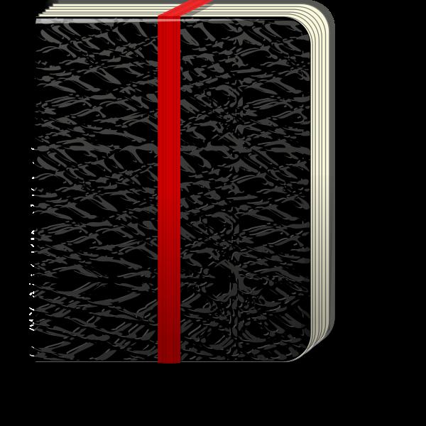Black notebook vector illustration