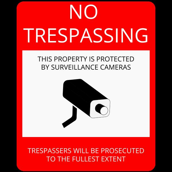 No trespassing sign vector illustration