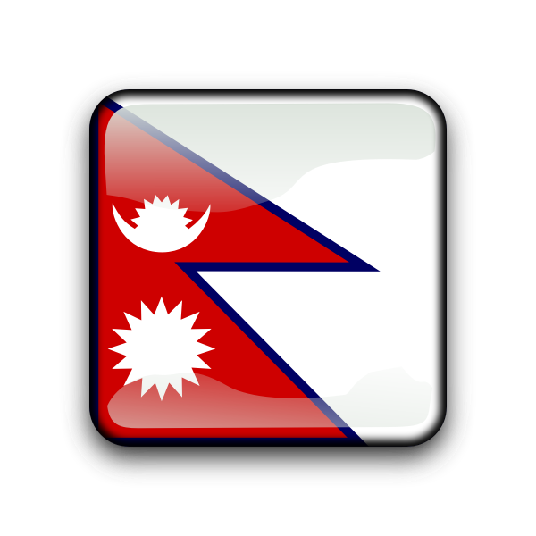 Flag of Nepal inside square
