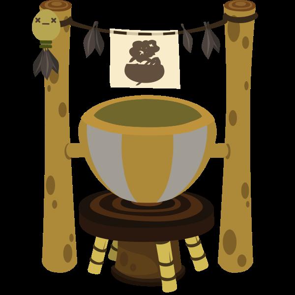 Wooden pot image