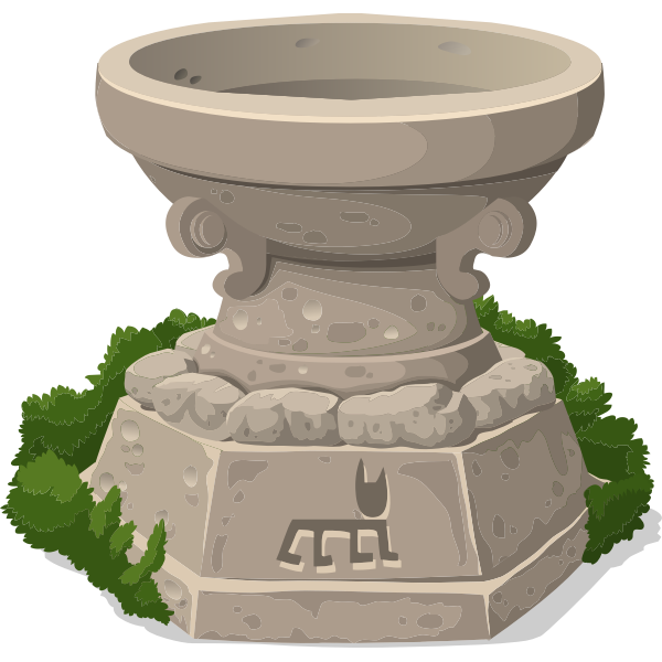 Stone shrine illustration