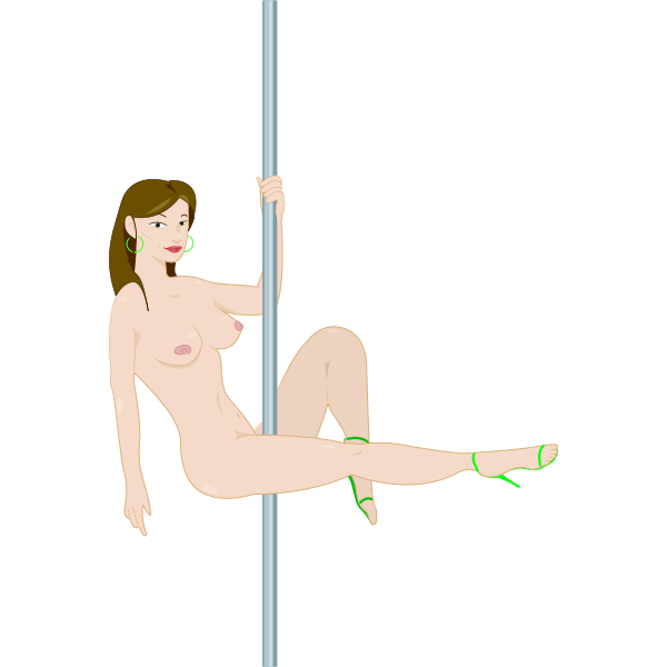 Naked Stripper On Pole