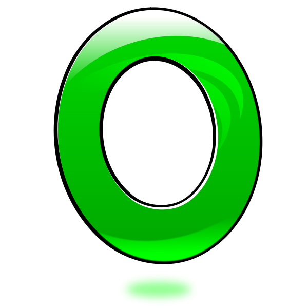 Vector image of glossy number zero
