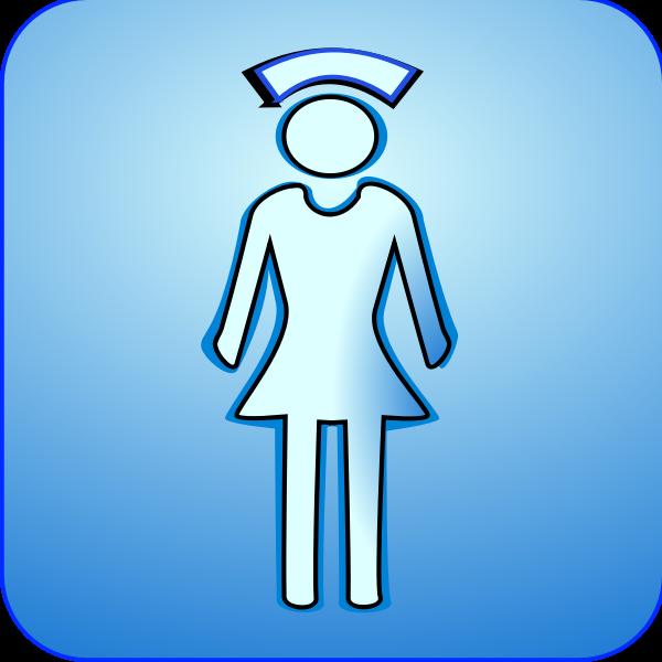 Vector symbol of medical nurse