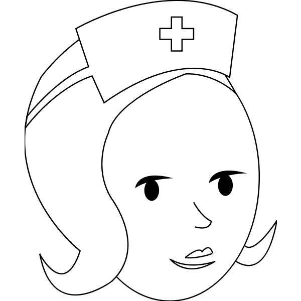 Nurse line art vector graphics