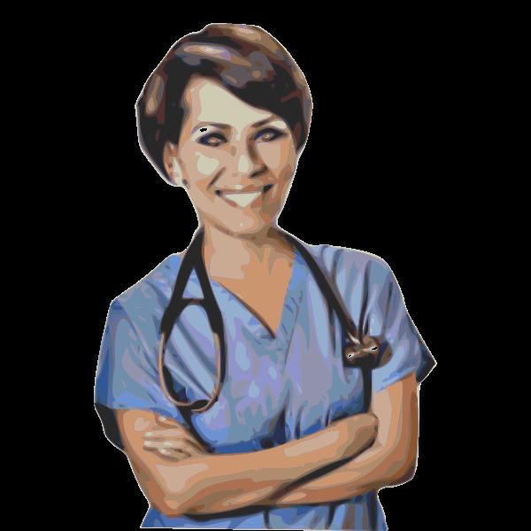 Medical nurse vector drawing