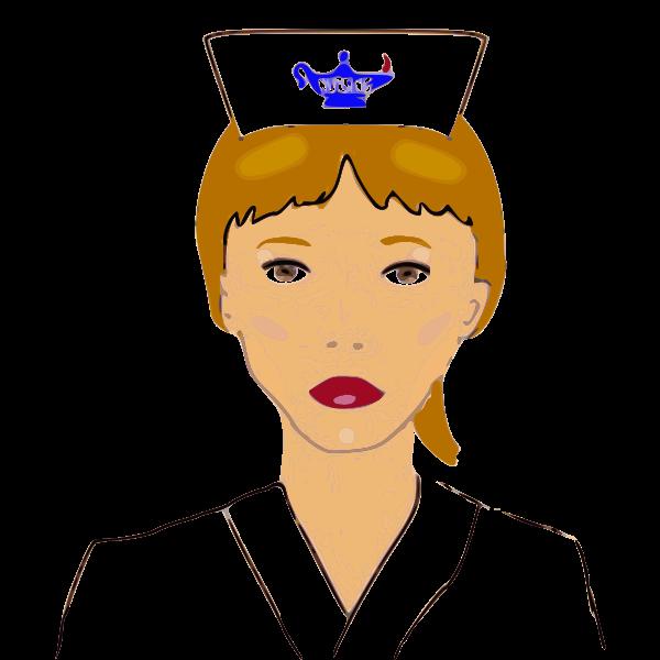 Vector image of nurse