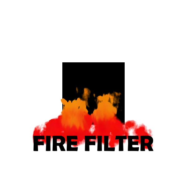 Fire filter red color