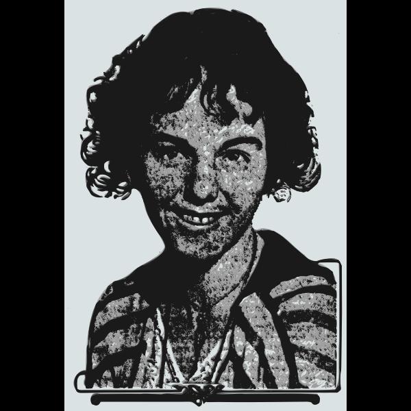 Happy woman portrait vector image