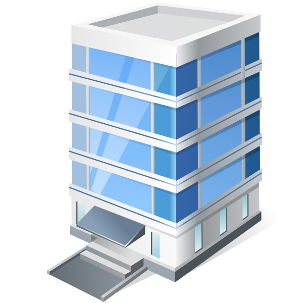 Vector graphics of four storey office block