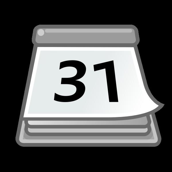 Office calendar vector icon
