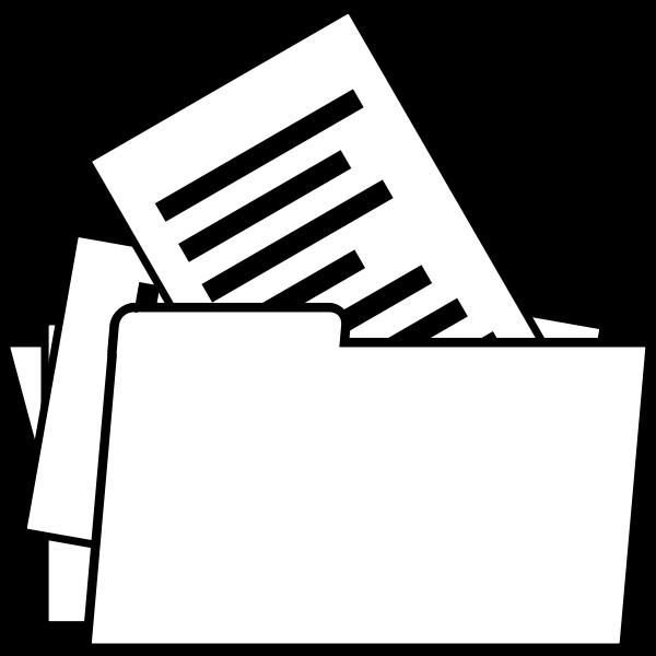 Vector image of arhive folder