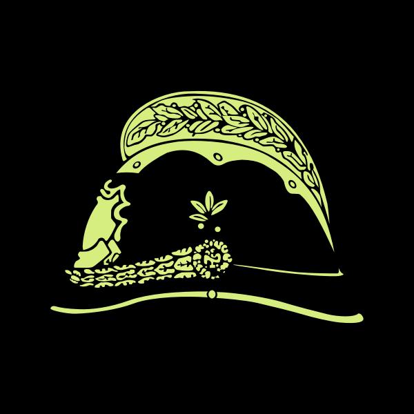 Old fireman's helmet vector illustration