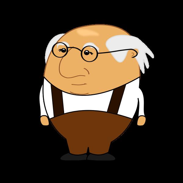 Bold old man