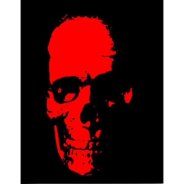 Vector image of red skull