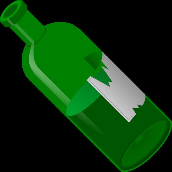 Green open bottle vector illustration