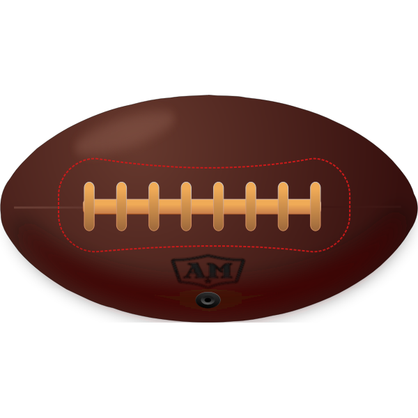 Vintage American football ball vector illustration