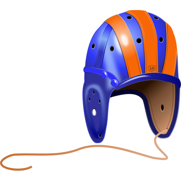 Vintage college rugby helmet vector illustration