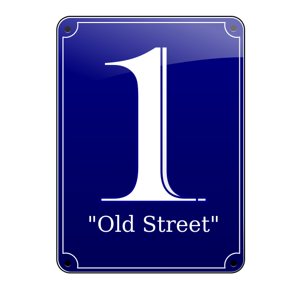 Old Street No. 1 sign vector illustration