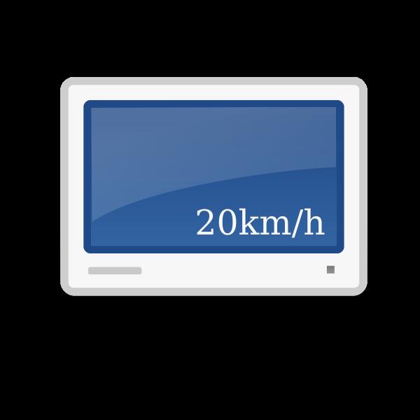 Car trip computer vector image