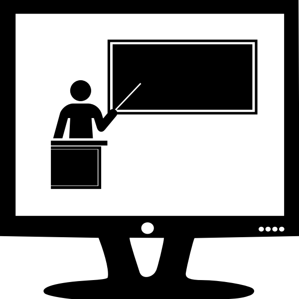 Online presentation vector image