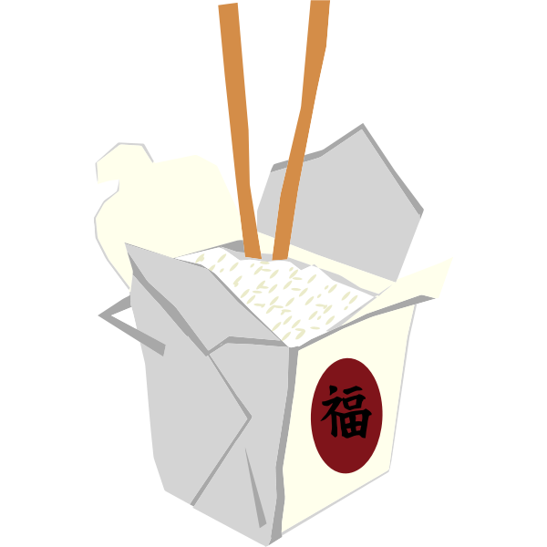 Chinese takeaway vector image