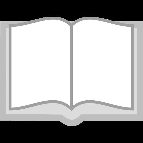 Grayscale open book icon