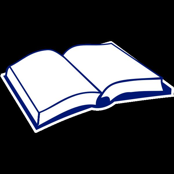 Line art vector image of book